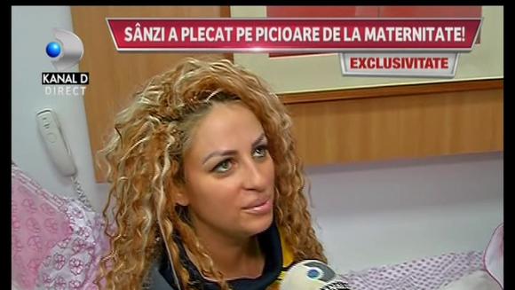 "Zile de cosmar pentru Sanzi de cand a nascut: ""Ma simt foarte rau! Am ameteli si stari de voma!"""
