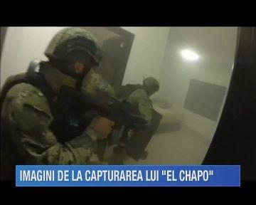 Imagini dramatice de la capturarea celui mai mare traficant de droguri din lume, Joaquin Guzman, zis El Chapo!