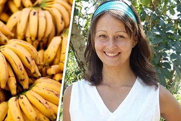 A incercat sa manance timp de 12 zile numai banane! Uite ce transformare a suferit corpul ei la sfarsitul experimentului