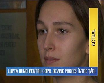 Irina Cristescu nu mai este singura in lupta cu sotul sau. Directia Copilului va ataca decizia Instantei si va cere ca micuta sa ramana la mama