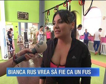 Bianca Rus s-a apucat serios de sala! Bruneta vrea sa scape cu orice pret de kilogramele in plus