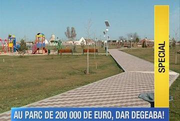 Au cheltuit 200 de mii de euro din fonduri europene pe un parc, dar accesul localnicilor este interzis!