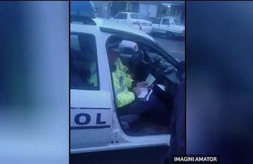 Legea-i lege pentru toti sau doar pentru unii? Ce facea un politist din Craiova in masina, in timpul programului
