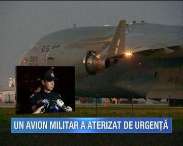 Pericol la bordul unui avion militar american care a aterizat de urgenta pe aeroportul Mihail Kogalniceanu
