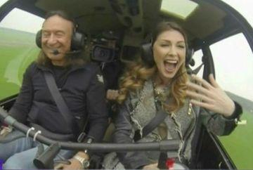 "Ilinca Vandici a invatat sa piloteze un elicopter! ""Aoleu, aoleu! Sunt terminata de emotii""- Uite cum a reactionat in aer!"