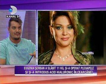 Eugenia Serban a slabit 11 kilograme, si-a operat pleoapele si si-a introdus acid hialuronic in cearcane! Uite cum arata actrita acum, zici ca e o pustoaica