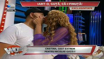 Cristina l-a cerut pe Nicolae Guta de barbat! A dansat ca o cadana pentru el, i-a spus ca il iubeste si i-a pus inelul pe deget. Reactia lui te va da pe spate
