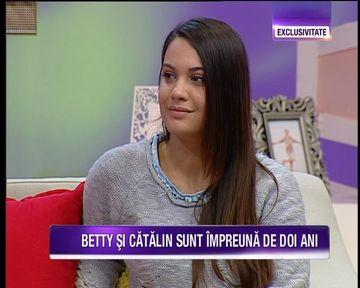 """Betty Salam si iubitul ei, Catalin, pentru prima data la """"Teo Show!"""" Uite cat de bine le sta impreuna"""