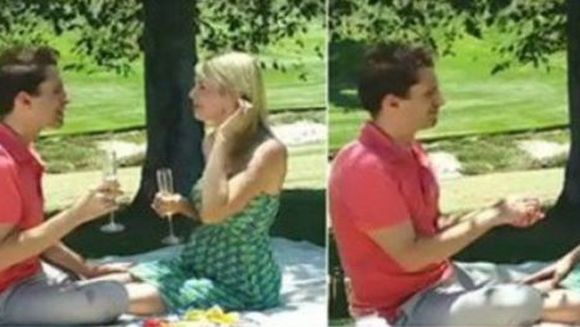 Erau la un picnic si, dupa ce au baut un pahar de sampanie, baiatul a scos o cutiuta din buzunar. I-au dat lacrimile si credea ca in sfarsit o sa fie ceruta in casatorie, mai ales ca era insarcinata. A avut un soc cand a vazut ce era de fapt