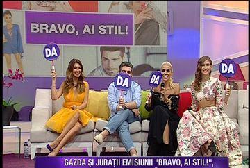 """Iulia Albu, sarbatorita in direct la """"Teo Show""""! Fashion editorul de la emisiunea """"Bravo, ai stil"""" a fost socat de buchetul de flori pe care l-a primit. Cei trei jurati ai celei mai noi productii Kanal D au luat la puricat vedetele autohtone"""