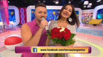 """Gabriela Cristea, intampinata cu flori de sotul ei in platoul """"Te vreau langa mine""""! Uite care a fost ocazia speciala!"""