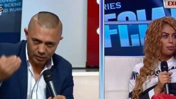 "Nicolae Guta, inselat din nou de Cristina! Femeia i-a sarit la gat si l-a zgariat! Manelistul si-a iesit din minti, in direct: ""Lasa-le dracu' sa le ia! E proasta!"""