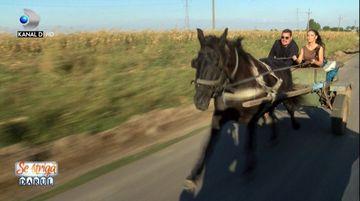 """Video exclusiv! Bursucu, speriat de moarte! El a avut parte de palpitatii in sareta cu Andreea Mantea, la filmarile pentru """"Se striga darul!, azi, de la 22.00, la Kanal D"""