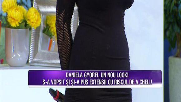 Daniela Gyorfi a recurs din nou la o schimbare de look! Cu toate ca risca sa ramana cheala, vedeta nu s-a potolit si s-a vopsit iar! Iata cum arata aceasta si ce declaratii a facut