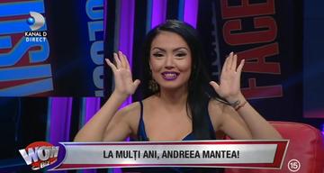"""La multi ani, Andreea Mantea! Prezentatoarea """"WOWbiz"""" sarbatoreste ziua onomastica! Ce reactie emotionanta a avut Andreea"""