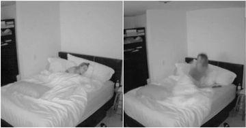 De fiecare data cand se baga in pat si atipea, se trezea ca cineva o dezveleste o trezeste. Inspaimantata, femeia a instalat o camera video si timp de un an a verificat sa vada ce se intampla. cand a vazut ce o trezea, a vrut sa vanda casa imediat!