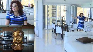 Imagini exclusive din America, cu apartamentele lui Carmen Harra