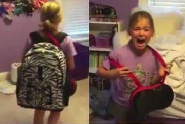 Aceasta fetita s-a intors de la scoala, dar cand a intrat in camera ei a inceput sa tipe si sa planga! Ce era pe patul ei
