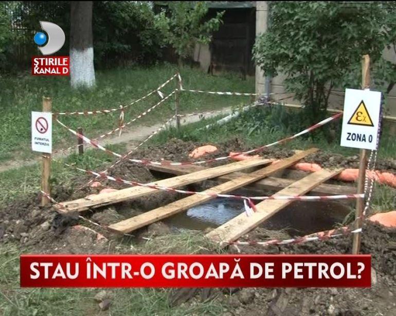 MINUNE SAU PACOSTE? Locuitorii unui cartier, INUNDATI de o balta de petrol
