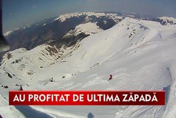 DEPENDENTI de adrenalina! Sute de tineri au facut salturi spectaculoase cu skiurile la peste 1 800 de metri! VIDEO