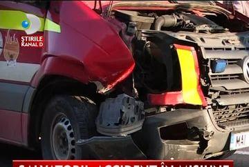 O autospeciala SMURD GRAV ACCIDENTATA in drum spre o interventie de salvare VIDEO