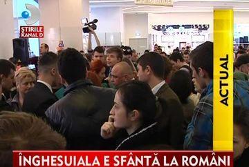 SCENE DE COSMAR la deschiderea unui magazin de haine din Baia Mare VIDEO