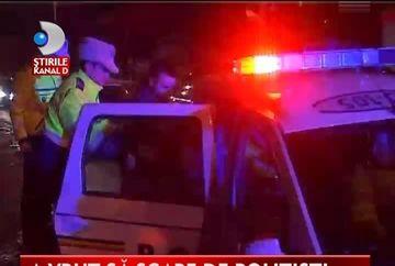 SOCANT! Cum a vrut sa scape de politisti un sofer beat VIDEO