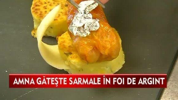 Mancaruri pentru cei bogati! Iata cum se prepara sarmalele in foi de argint VIDEO
