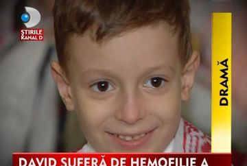 DRAMA. David, un baietel de cinci ani, lupta cu o boala necrutatoare VIDEO