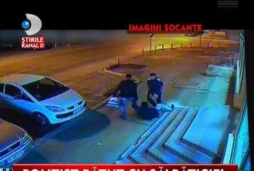 IMAGINI SOCANTE! Politist batut cu bestialitate in plina strada VIDEO
