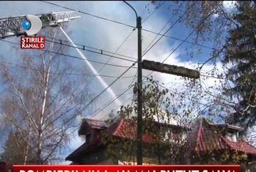 Incendiu devastator in Predeal! Un batran a ars de viu in propria locuinta VIDEO