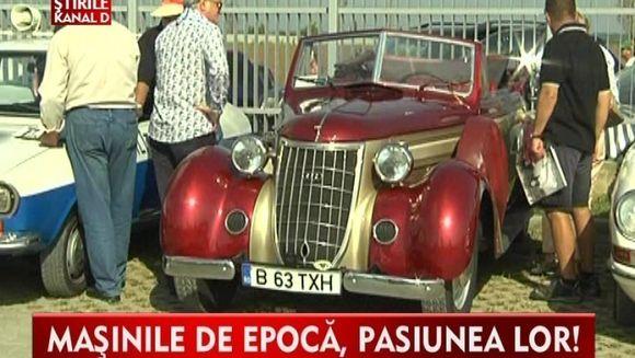 Expozitie cu masini de epoca. CEL MAI VECHI AUTOMOBIL din Europa a defilat in Romania VIDEO