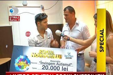 """Roata norocului si Ionut Iftimoaie i-au facut fericiti pe copiii asociatiei """"Invingem Autismul"""" VIDEO"""