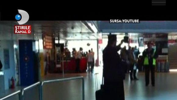 Scandal pe aeroport. Un preot a injurat ca la usa cortului VIDEO