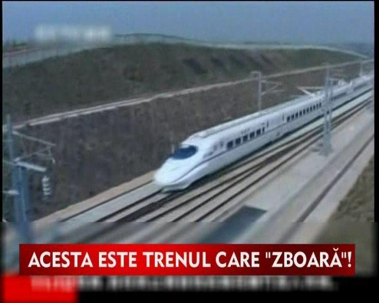 Chinezii se lauda cu un tren care atinge 500 de km pe ora VIDEO
