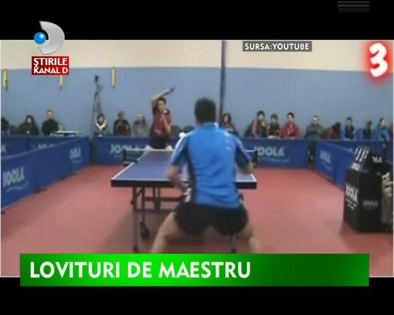Iata cea mai tare lovitura la tenis de masa!VIDEO