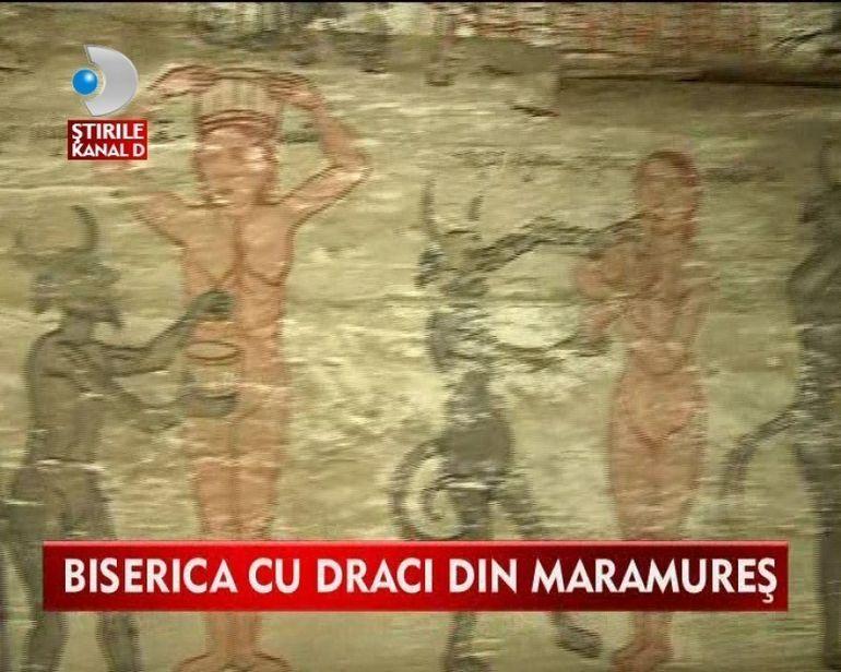 O biserica cu DRACI din Maramures, INCLUSA in circuitul turistic al lacaselor de cult