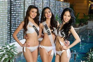 Imagini din culise. Uite cat de frumoase sunt concurentele de la Miss Univers 2013