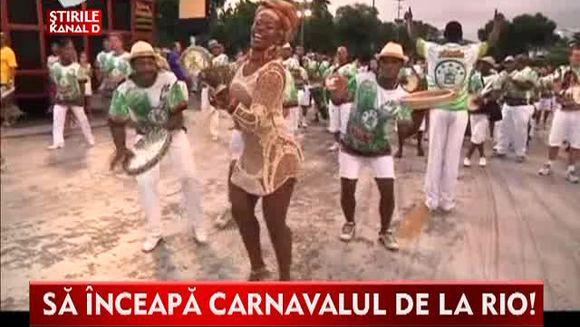 Sa inceapa Carnavalul de la Rio! Pregatirile sunt pe ultima suta de metri