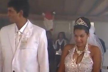 LESINI DE RAS. Situatie neprevazuta la o nunta. Mirele si mireasa au luat-o la fuga cand au vazut asa ceva!