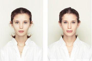 Cum ar arata oamenii daca ambele jumatati ale fetei ar fi identice. Proiect inedit de fotografie