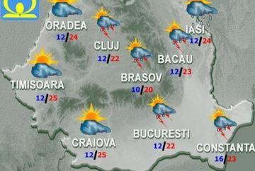 Cum va fi VREMEA in weekend! Ce temperaturi se vor inregistra si cand se opresc ploile