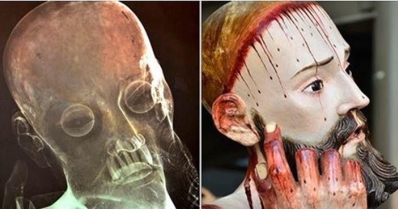 DESCOPERIRE SOCANTA dupa ce oamenii de stiinta au radiografiat o statuie care il infatiseaza pe Isus