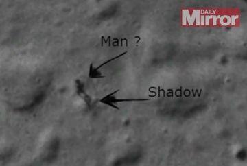 Exista viata pe Luna? O SILUETA stranie, detectata pe suprafata satelitului natural al Pamantului