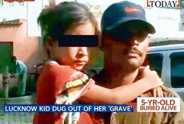 CUTREMURATOR. O fetita a reusit sa scape cu viata dupa ce a fost STRANGUALA si INGROPATA de VIE de rudele ei