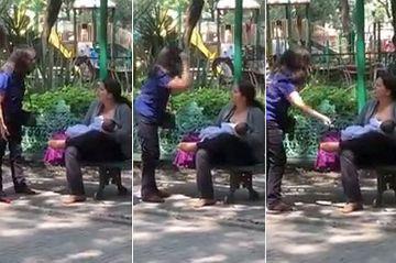 Ce a patit o mama care isi alapta bebelusul in parc! E incredibil ce i-a facut o femeie atunci cand a vazut-o