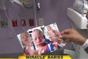 A nascut CEI MAI RARI tripleti din lume, dar doi dintre ei au nevoie de rugaciunile noastre