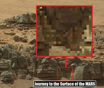Descoperire SOCANTA pe Marte! Imaginea unei creaturi a fost observata in fotografiile trimise de robotul Curiosity