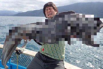 Pescuia langa centrala nucleara Fukushima, cand a prins acest monstru marin. Cum arata creatura-mutant
