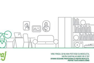 VeloGaraj, gazduire biciclete pe timp de iarna, 4+1 luna gratis